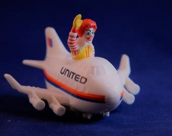 Vtg Mcdonalds, Kids Meal Toy, Ronald McDonald, United Airlines, Happy Meal Toys, Airplane Toy, McDonalds Toy, Mcdonald Collectible,