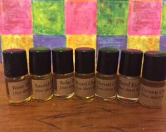 Complete Set of Chakra Oils MINI 2 ml Roller Bottles
