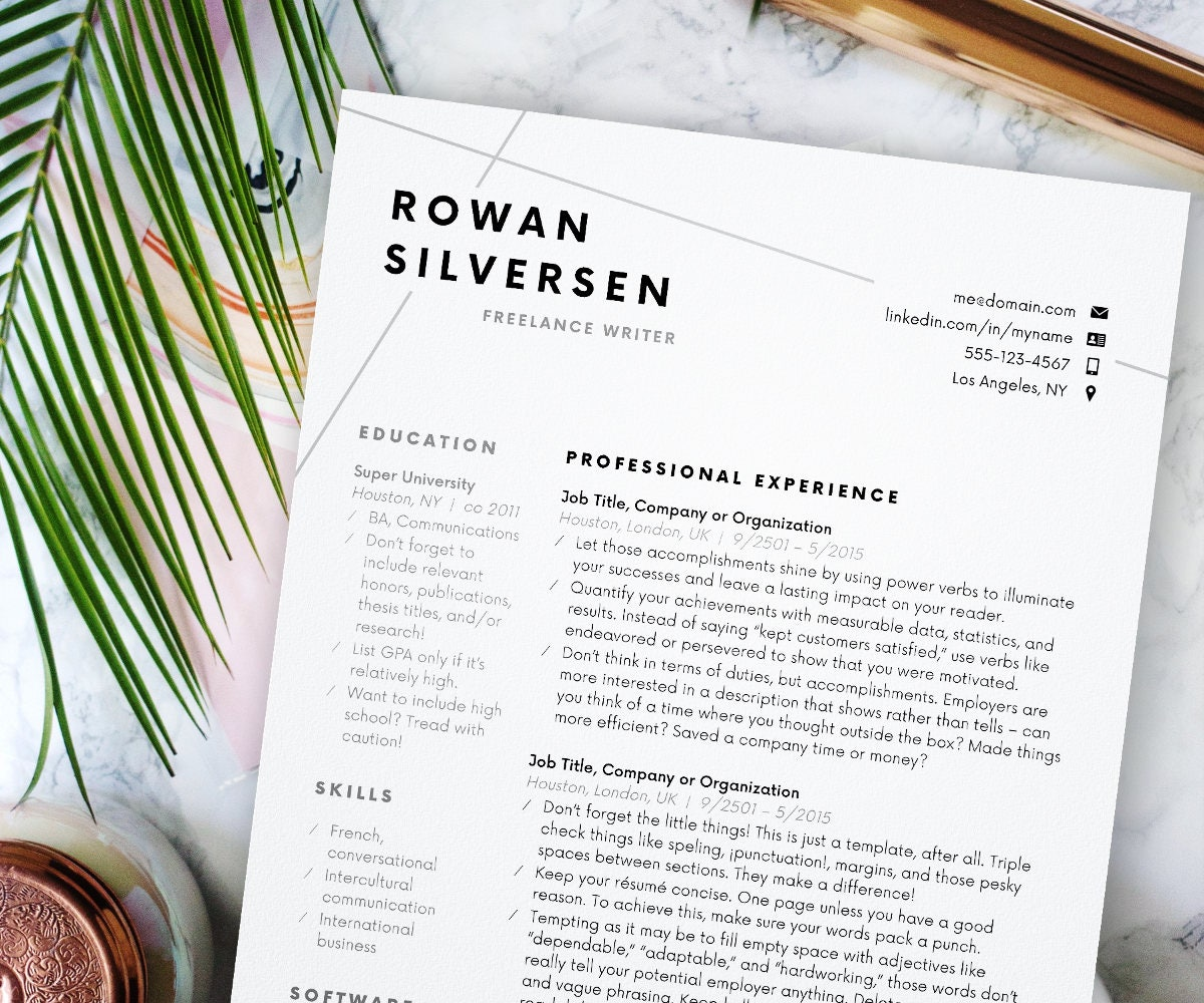 modern resume resume template modern resume resume for word cv template cover letter resume instant mini st professional resume design