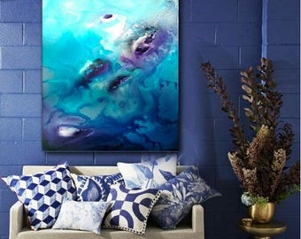Abstract Painting, Fine Art Painting, Acrylic Painting,Wall Art,Modern Wall Decor,Modern Painting,Original Abstract,Sailing,Landscape,lake