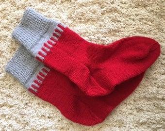 Handmade Knitted Socks Size 7-9 US