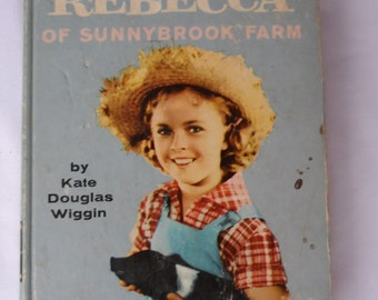 FREE SHIPPING in USA Vintage Shirley Temple Memorabilia 1959 Shirley Temple Edition of Rebecca of Sunnybrook Farm  Kate Douglas Wiggin  1007