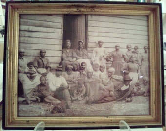 Photograph of Black American Men Women and Children