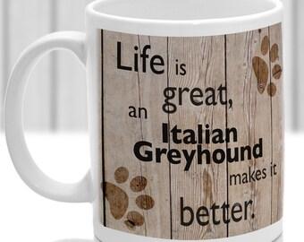 Italian GreyHound dog mug, Italian GreyHound dog gift, dog breed mug, ideal present for dog lover