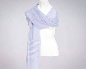SUMMER SALE Ava Lilac Wool and Sequins Shawl Scarf Wrap