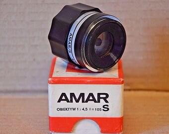 Lens Amar S. 4,5 / 105. Poland. Good condition
