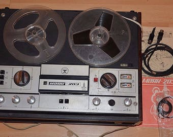 """Vintage tape recorder USSR, """"Mayak"""" 203. In working condition"""