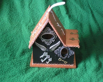 Stempunk Birdhouse - Copper Cutie - Decorative Use Only - Gadget Gal Lab