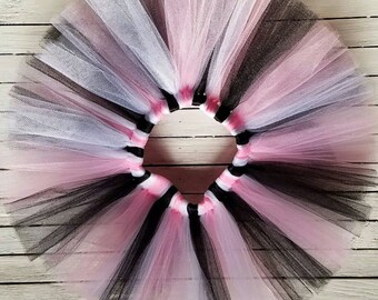 SALE!!! Cleaning out inventory! Paris Pink, Black, and White Tutu Skirt
