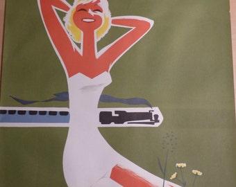 Original Touropa travel poster summer of 1961 A1