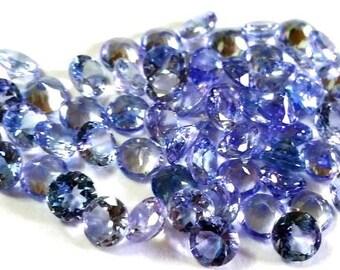 1 pieces 5mm Tanzanite Faceted Round Gemstone, 5mm Tanzanite Round Faceted Gemstone, AAA quality calibrated size Round Faceted Gemstone