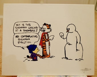 Calvin and Hobbes (Snowman Evolution)