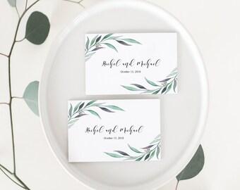 Wedding Favor Tags, Printable Favor Tags, Favor Tags, Eucalyptus Favor Tags, Personalized Favor Tags, Greenery Favor Tags, Floral Favor Tags
