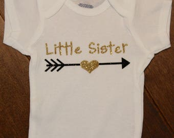 Little Sister, New Little Sister, New Baby, Little Sister Bodysuit, Little Sis,