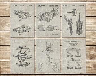 Batman Posters, Patent Print Group, Batman Art Posters, Batman Blueprint, Patent Print Set,Batman Printable,Batwing Poster, INSTANT DOWNLOAD