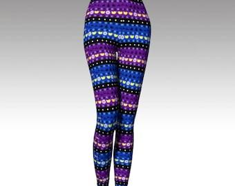 Winter Leggings, Winter Tights, Winter Sweater Leggings, Printed Sweater Tights, Sweater Look, Colorful Leggings, Colorful Tights, Holiday