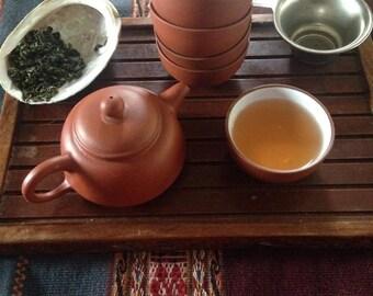 Basic Clay Teapot Set w/ Abalone Incense Holder