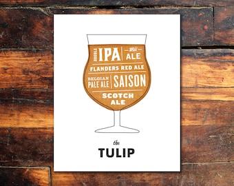 Beer Print - Tulip