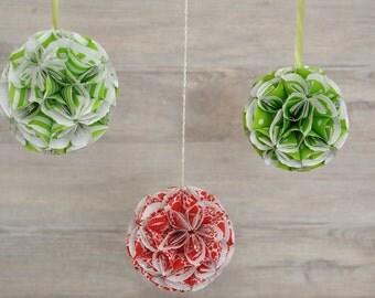 Flower ball set of 3 paper