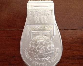 Singercraft Guide No. 2 Model 120987 Aluminium Bulb End Vintage Singer Sewing Machine Accessory Rug Making Vintage Craft Collectable 1940's