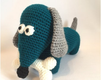 Amigurumi crochet pattern: Dachshund dog