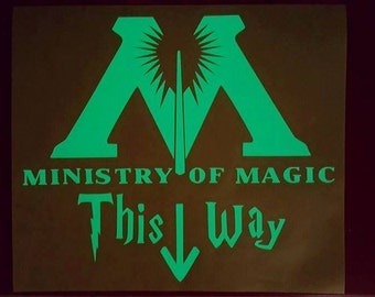 Glow in the Dark Harry Potter Ministry of Magic Decal.