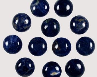 Wholesale Natural Blue Sodalite Natural stone, Sodalite Cabochons, Sodalite Loose Gemstone 61.00 Cts  12x12x6mm Wholesale Natural Cabochon