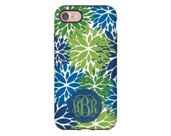 iPhone 7 case, greenery iPhone 7 Plus case, zinnia flowers iphone 6s/6s Plus/6/6 Plus/5s/5/SE cases, monogram iphone cases for girls