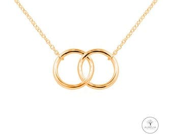 """Gold chain """"double ring"""" tender"""