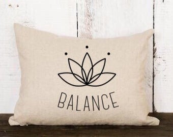 Balance / pillow cover / yoga pillow / throw pillow / birthday gift