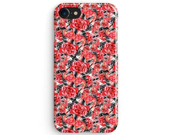 Floral red roses - iPhone 7 case, Samsung Galaxy S7 case, iPhone 6, iPhone 7 plus, iPhone SE, iPhone 5S, 1C103A