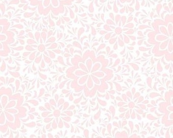 """Floral Fabric: Quilting Treasures Charleston Floral Tonal Pink 100% cotton fabric by the yard 36""""x43"""" (K436)"""