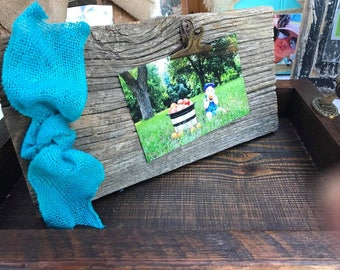 rustic 100 yr old barn wood frame