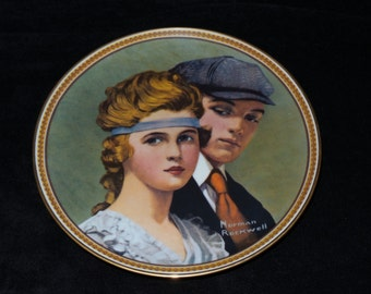 """1983 Knowles Rockwell's Rediscovered Women """"Meeting on the Path"""" Collector Plate by Norman Rockwell"""