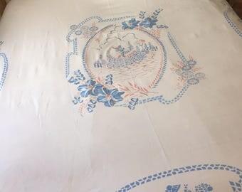 Vintage crinoline lady bedspread/throw