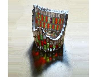 Votive Candle Holder, Handmade Mosaic Candle Holder, Tealight Holder, Candles & Holders, Unique Gift, Mosaic Decor, House Warming