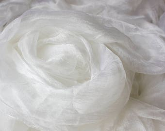 Silk gauze, sparse, for nunofelting 90 cm, 35 inch - 10 m