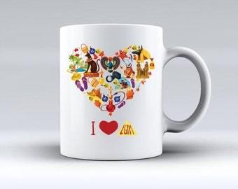 I Love Egypt Mug Egyptian Pharaoh Mug Coffee MUG Boyfriend Girlfriend gift