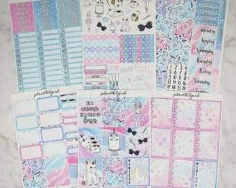 Unicorn Weekly Sticker Kit Erin Condren Vertical Planner Sticker Kits Happy Planner Recollections Planner Erin Condren Planner Stickers