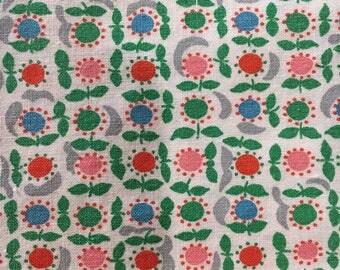 Quirky Floral Cotton Print, #dr128