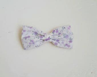 Lilac Blooms Bow Headband or Clip