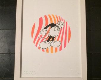 DREAM SAFARI - Limited edition Headless Micky silkscreen print (Collectors 3/5)