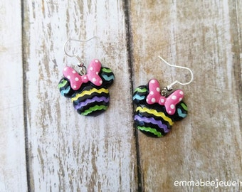Minnie Mouse Easter Earrings