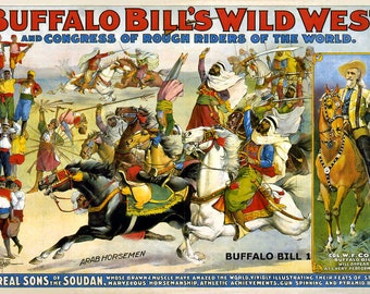 Buffalo Bills Wild West Vintage Posters (repro) A4 size