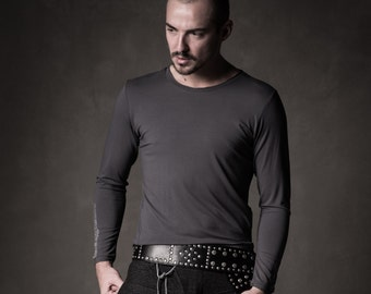Dark gray sweatshirt - Stylish men sweatshirt - Viscose sweatshirt - Heavy style men top - Urbanistic sweatshirt - Men fashion - SGM11-17