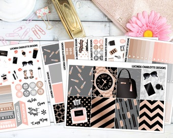 Rose Chic Weekly Planner Sticker Kit (Erin Condren Vertical)
