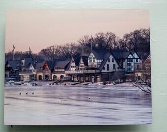 Philadelphia, Boathouse row Metal standout print
