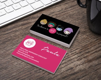 Perfectly Posh Business Card - Home Office Compliant - Personalized - Customizable - Pampered - Diverse Group