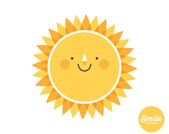Happy Sun Clipart  for Commercial Use - C0109