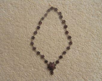 Pretty Georgian Garnet Necklace late 18th early 19th Century